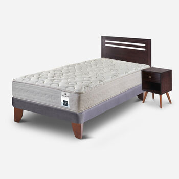 Cama Europea 1.5 Plazas Balance 1 + Set Munich
