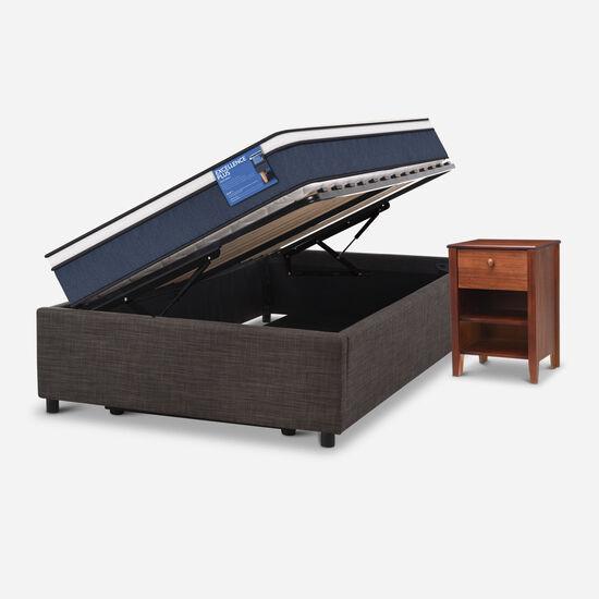 Cama Space Box 1,5 Plazas Excellence Plus + Velador New Torino