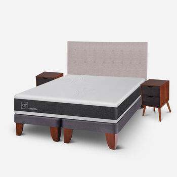 Cama Europea King Ortopedic + Set Tigris