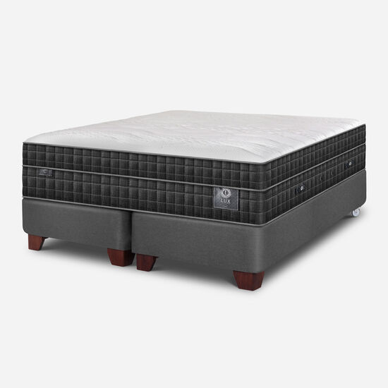 Box Spring 2 Plazas Lux Base Dividida
