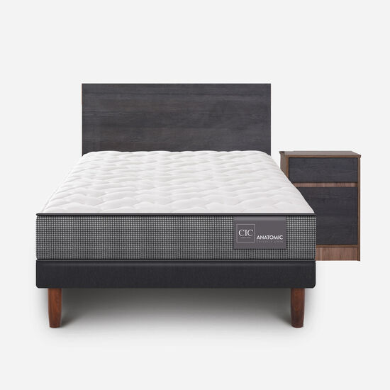 Cama Europea 1.5 Plazas Anatomic + Set Espresso
