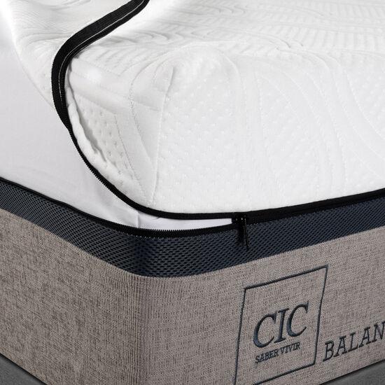 Box Spring King Balance + Almohadas Viscoelásticas + Set Miró