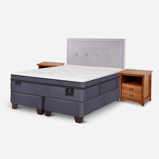 Box Spring King Super Premium + Set Ganges