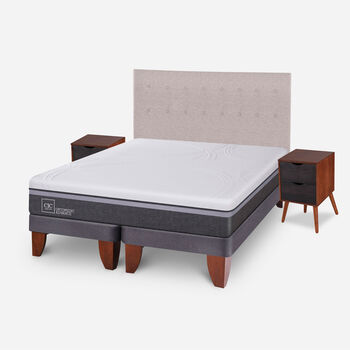 Cama Europea King Ortopedic Advance + Set Tigris