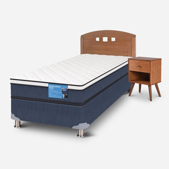 Cama Americana 1.5 Plazas Excellence Plus + Set Gales