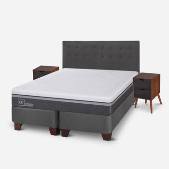 Box Spring King Ortopedic Advance + Set Eufrates