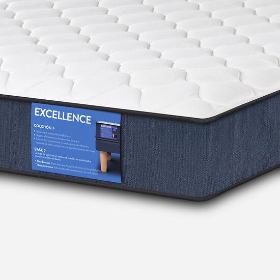 Colchón Full Excellence 135X190 + Almohadas