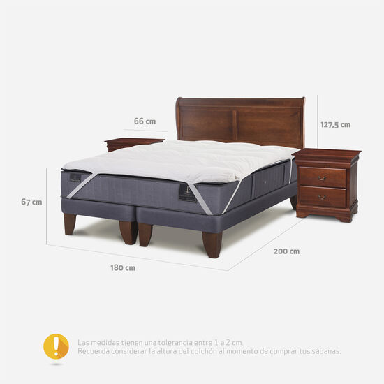 Cama Europea King Premium + Set Miró + Topper