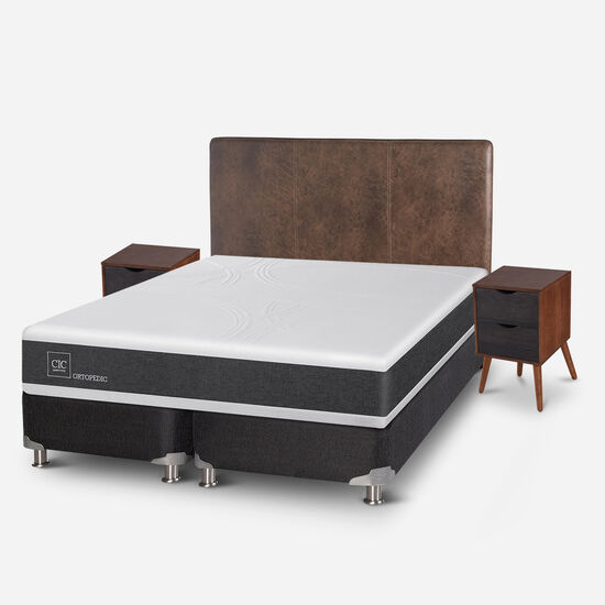 Box Spring King Ortopedic 5 Zonas + Set Baker