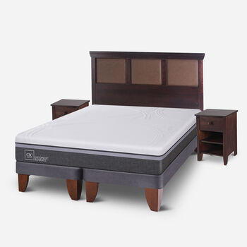 Cama Europea King Ortopedic Advance + Set Torino Choc