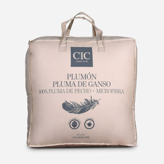 Plumón Single Pluma 15% Ganso