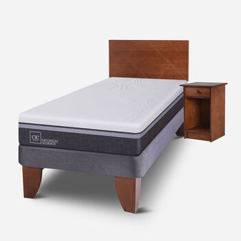 Cama Europea 1.5 Plazas Ortopedic Advance + Set Villarrica