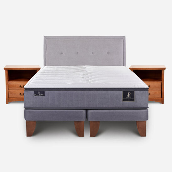 Cama Europea King Premium + Set Ganges