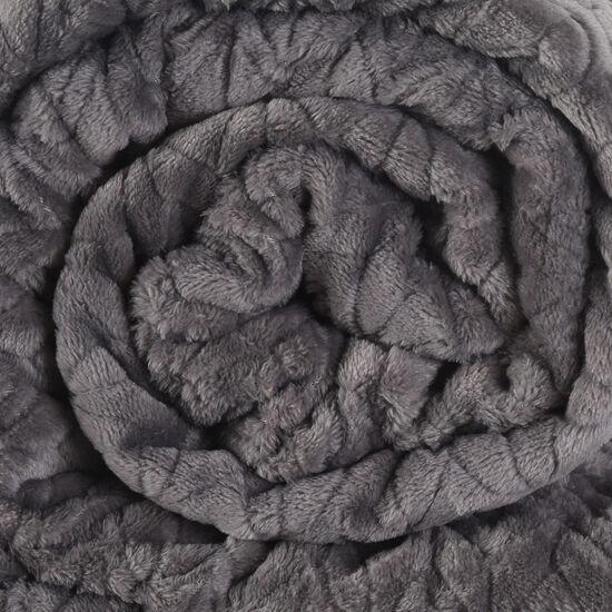 Frazada 2 Plazas Flannel Fleece Gris