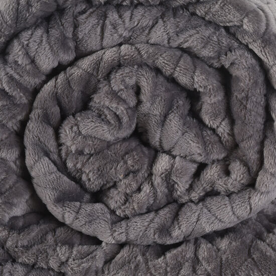 Frazada Single Flannel Fleece Gris