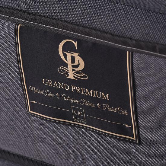 Cama Europea 2 Plazas Grand Premium Base Dividida + Respaldo Támesis