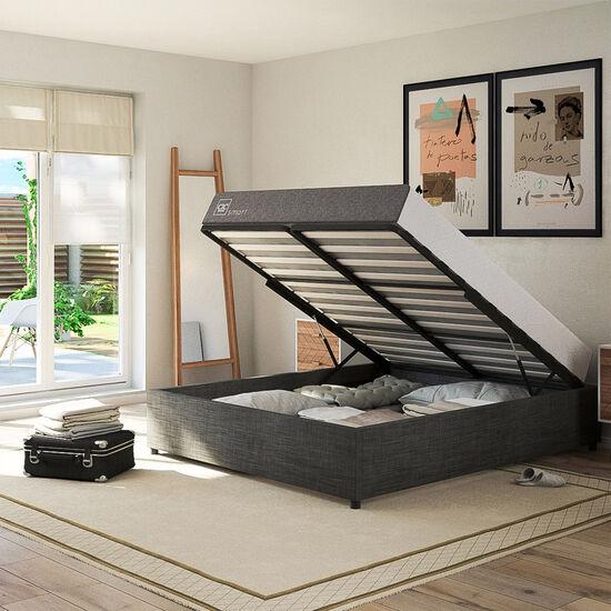 Cama Space Box 2 Plazas Excellence Plus + Velador New Torino