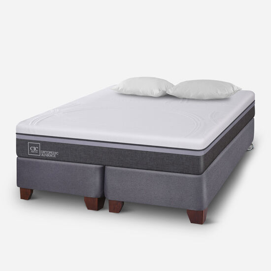 Box Spring King Ortopedic Advance + Almohadas