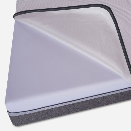 Box Spring 2 Plazas Ortopedic Advance Base Normal 5 Zonas + Almohadas + Plumón + Set Tigris