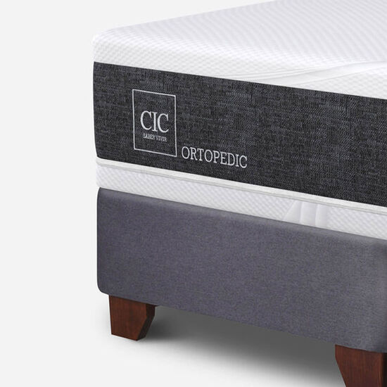 Box Spring King Ortopedic + Respaldo Eufrates
