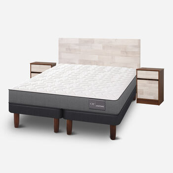 Cama Europea 2 Plazas Anatomic Base Dividida + Set Legno