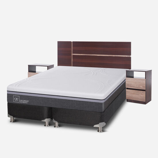 Box Spring King Ortopedic Advance 5 Zonas + Set Enio