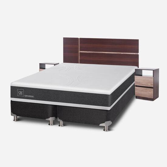 Box Spring King Ortopedic 5 Zonas + Set Enio