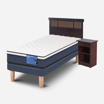 Cama Europea 1.5 Plazas Excellence Plus + Set Dublín Choc