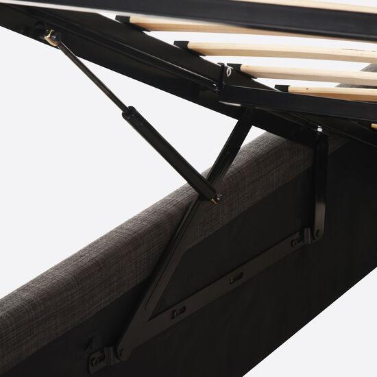 Cama Space Box 2 Plazas Anatomic + Velador Níger