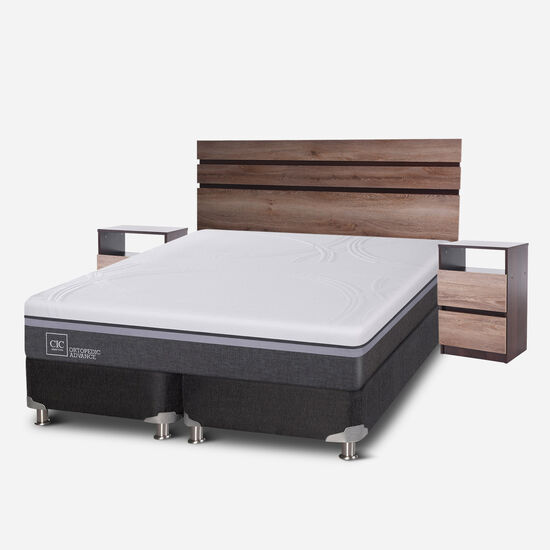 Box Spring King Ortopedic Advance 5 Zonas + Set Ares