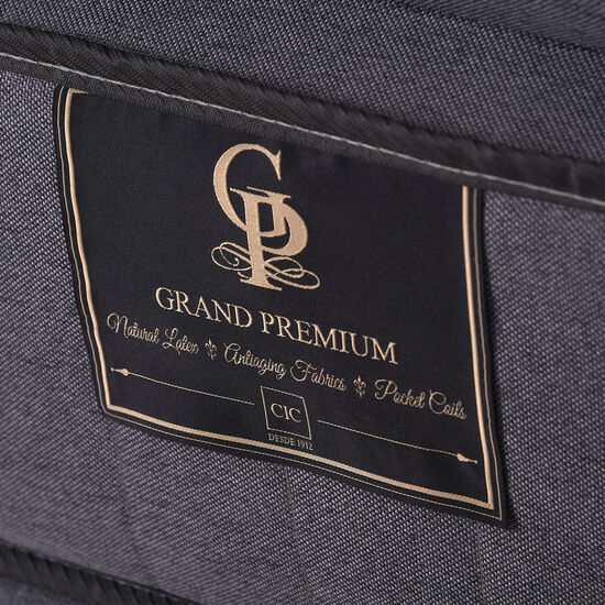 Cama Europea King Grand Premium + Respaldo Támesis