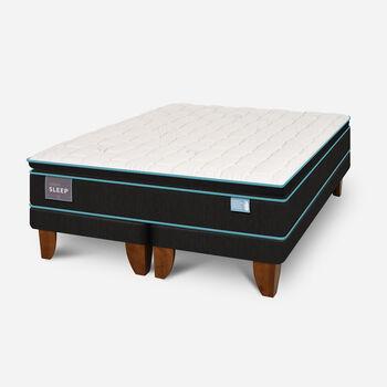 Cama Europea King Green Sleep Base Dividida
