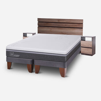 Cama Europea King Ortopedic Advance + Set Ares
