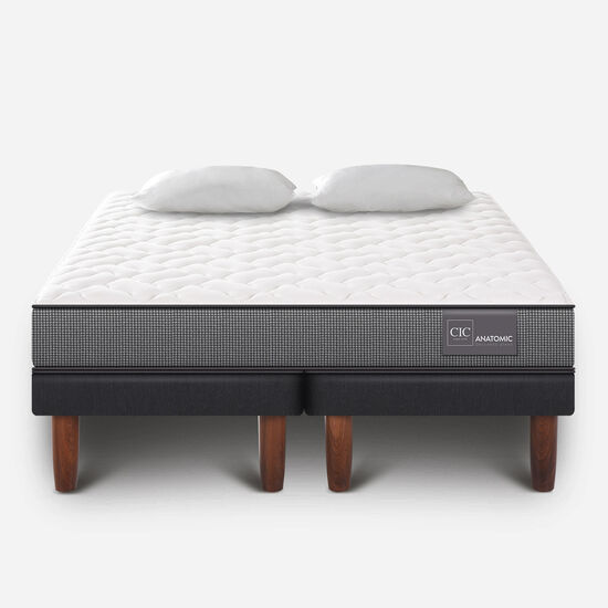 Cama Europea King Anatomic + Almohadas