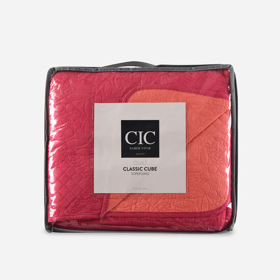 Quilt Super King Ultrasonic Living Coral