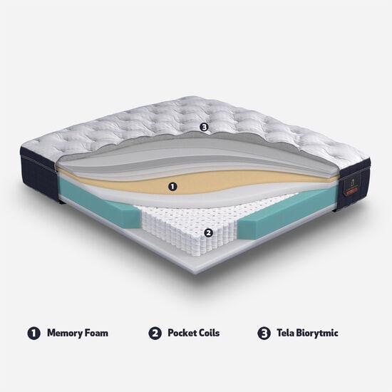Cama Europea Curve 2 Plazas Super Premium + Set New Torino Choc