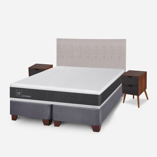 Box Spring King Ortopedic + Set Tigris