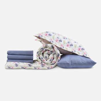 Plumón + Sábana King Print Floral