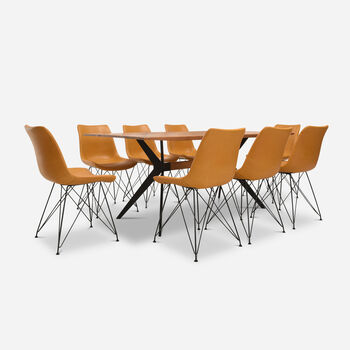 Comedor 8 Sillas Cross Camel