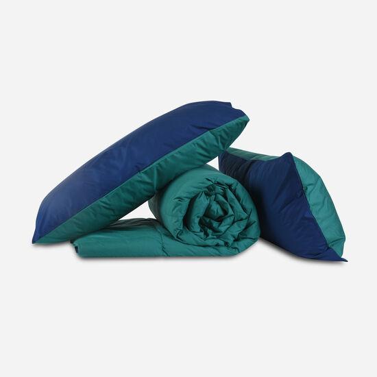 Plumón King Bicolor Quetzal Navy