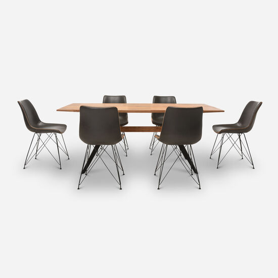Comedor 6 Sillas Cross Gris