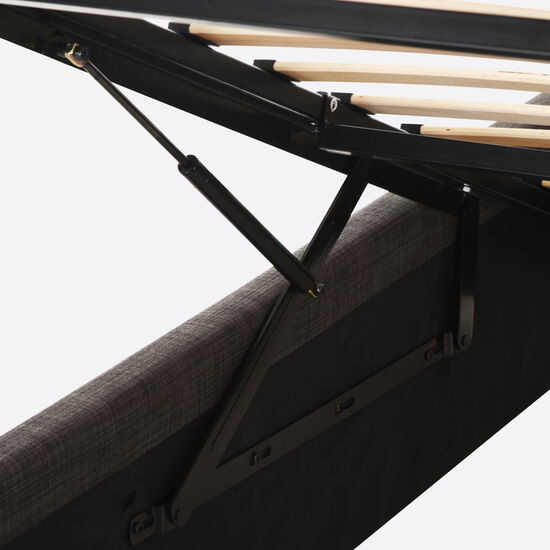 Cama Space Box 1,5 Plazas Ortopedic Advance + Velador New Torino Choc