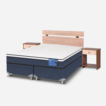 Cama Americana 2 Plazas Excellence Plus Base Dividida + Set Olmo