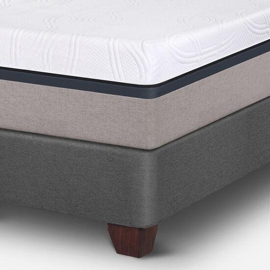 Box Spring 2 Plazas Balance Base Dividida + Almohadas + Plumón