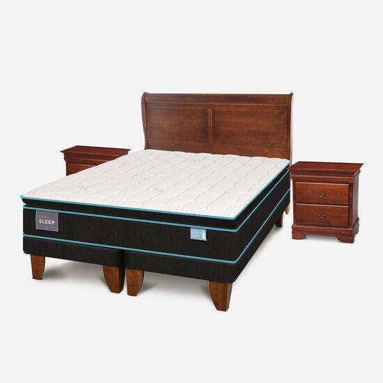 Cama Europea King Green Sleep + Set Miró