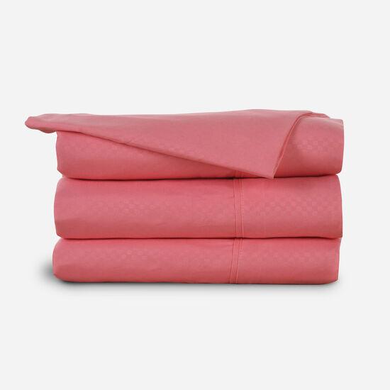 Sábana King Embossed Flamingo Pink