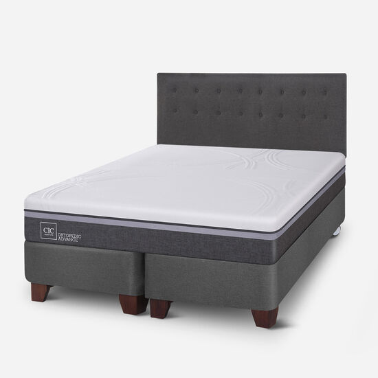 Box Spring King Ortopedic Advance + Respaldo Eufrates