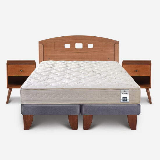 Cama Europea 2 Plazas Balance 1 Base Dividida + Set Gales