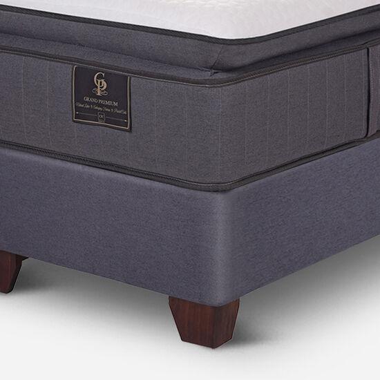 Box Spring 2 Plazas Grand Premium Base Dividida + Set Kavery