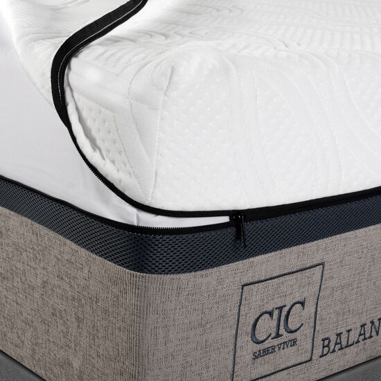 Box Spring 2 Plazas Balance Base Dividida + Set Milán